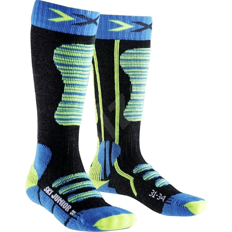 X-SOCKS - SKI JUNIOR Turquoise Yellow vel. 31 - 34 - Dětské lyžařské ponožky
