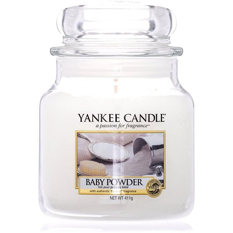 YANKEE CANDLE Classic střední Baby Powder 411 g - Svíčka