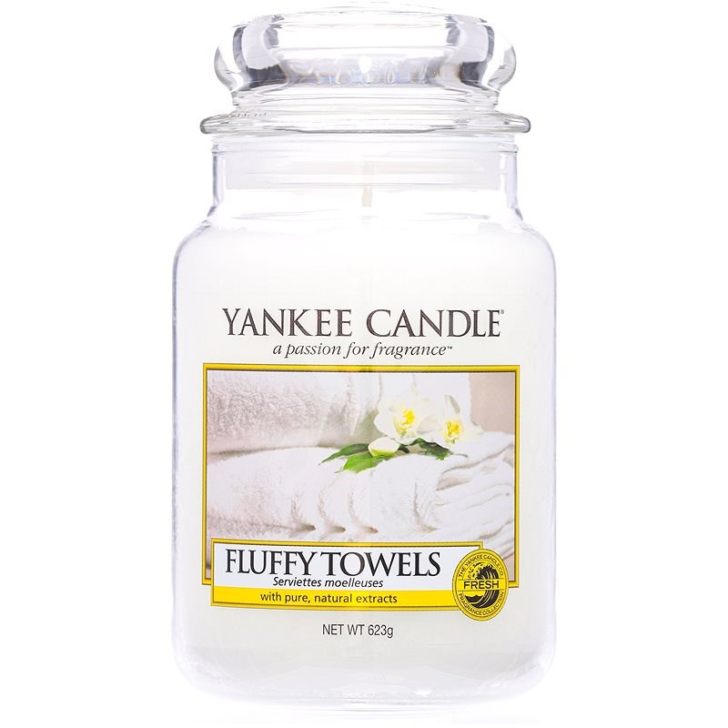 YANKEE CANDLE Classic Large Fluffy Towels 623g - Candle