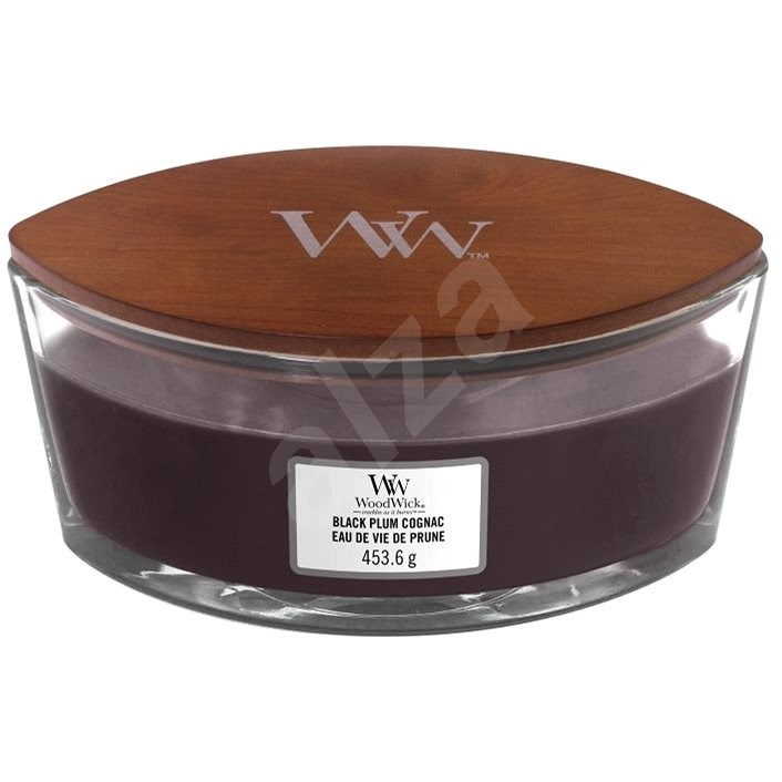 WOODWICK Black Plum Cognac 453 g - Svíčka