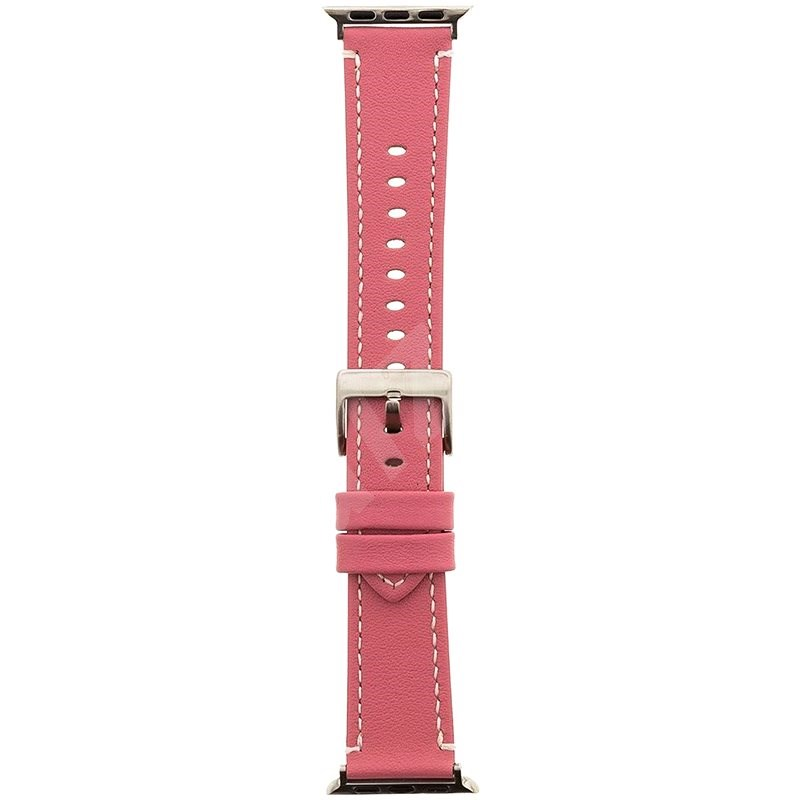 Tactical Color Kožený řemínek pro Apple Watch 42mm / 44mm Pink - Řemínek