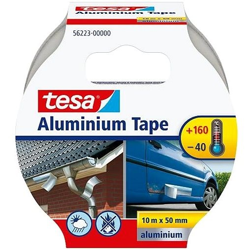 tesa AluminIum, Highly Sticky, Silver, 10m: 50mm - Duct Tape