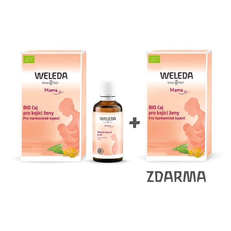 WELEDA olej na masáž prsů 50 ml + čaj pro kojící ženy - porcovaný 2× 40 g - Masážní olej