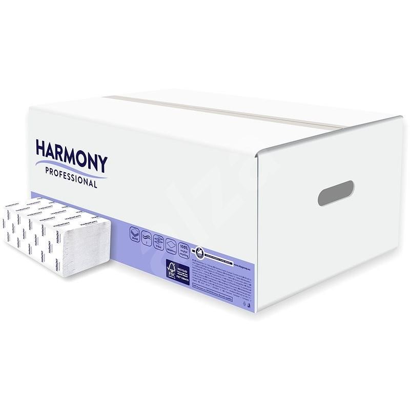 HARMONY Professional Comfort FT, 150 útržků, bílé, (20 ks) - Ručníky skládané
