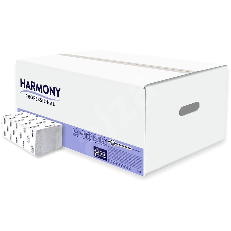 HARMONY Professional Comfort FT, 150 útržků, šedé, (20 ks) - Ručníky skládané