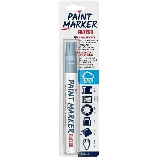 ALTECO Paint Marker stříbrný popisovač - Popisovač