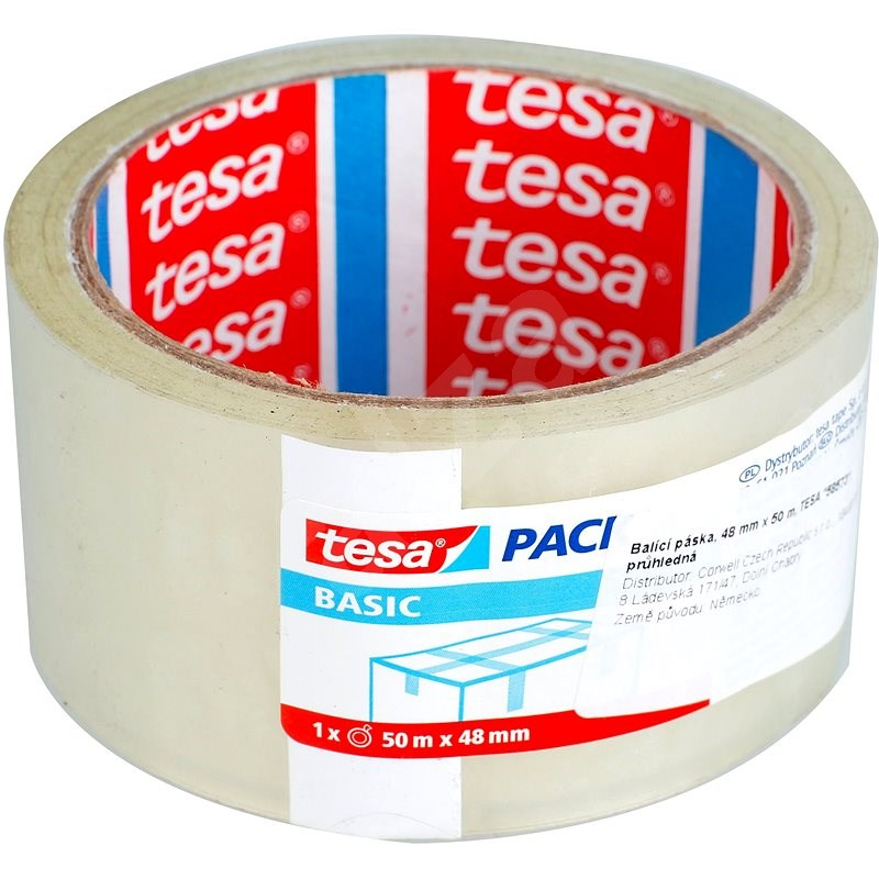 tesa Balicí páska BASIC, transparentní, 50m:48mm - Lepicí páska