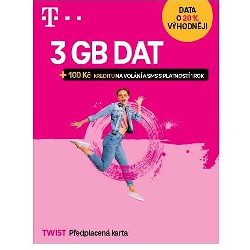 Předplacená karta Twist s Námi 2GB - SIM karta
