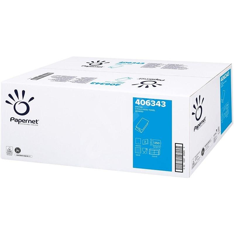 PAPERNET Ručníky extra bílá buničina 406343 3750 útržků - Ručníky skládané