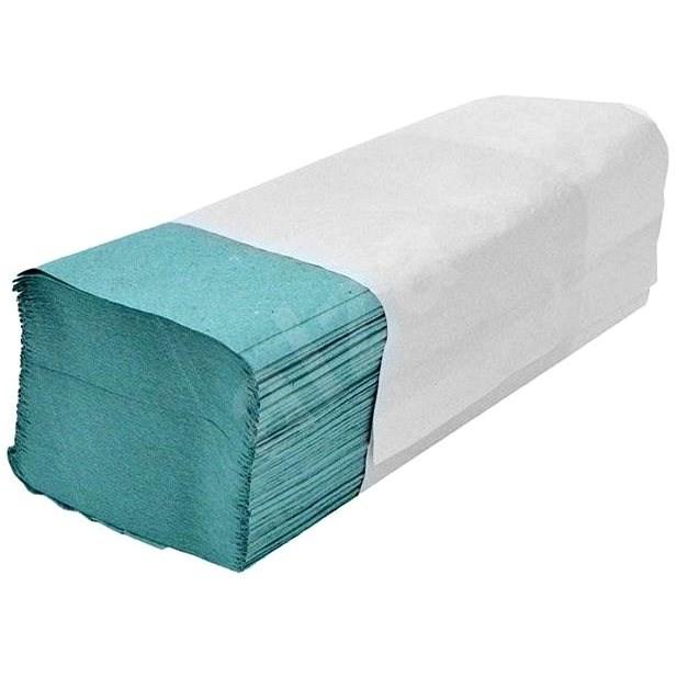 ALLSERVICES papírové ručníky ZZ zelené, 34 g/m2, 4600 ks - Papírové ručníky
