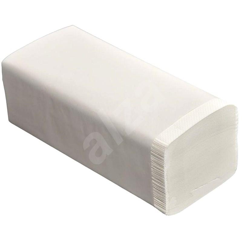 ALLSERVICES papírové ručníky ZZ bílé, dvě vrstvy, 4000 ks - Papírové ručníky