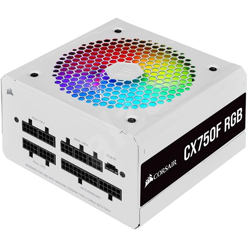 Corsair CX750F RGB White - Počítačový zdroj