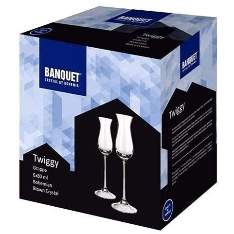 BANQUET Crystal Twiggy Grappa 80 A00990 - Sada sklenic