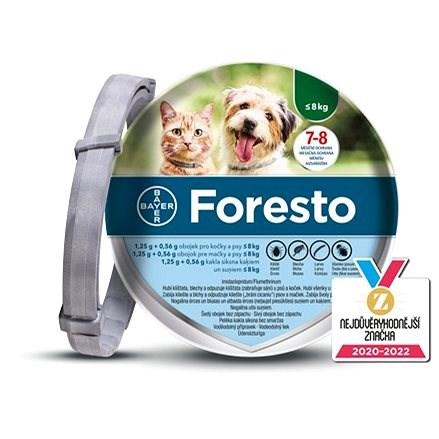 Foresto 1,25 g + 0,56 g obojek pro kočky a psy < 8 kg/38cm - Antiparazitní obojek