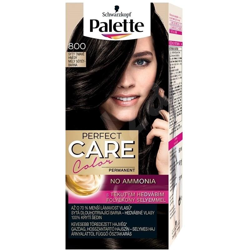 SCHWARZKOPF PALETTE Perfect Care Color 800 Sytý tmavě hnědý 50 ml - Barva na vlasy