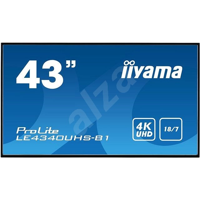 "43"" iiyama LE4340UHS-B1 - Velkoformátový displej"