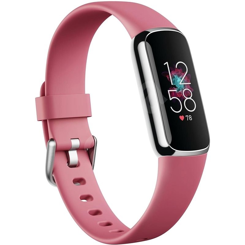 Fitbit Luxe - Orchid/Platinum Stainless Steel - Fitness náramek