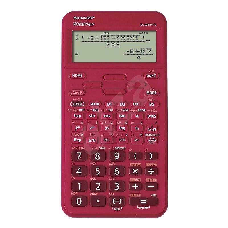 Sharp EL-W531TL červená - Kalkulačka