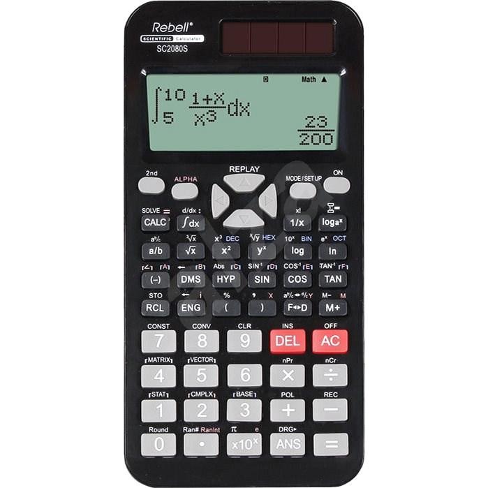 REBELL SC2080S černá - Kalkulačka