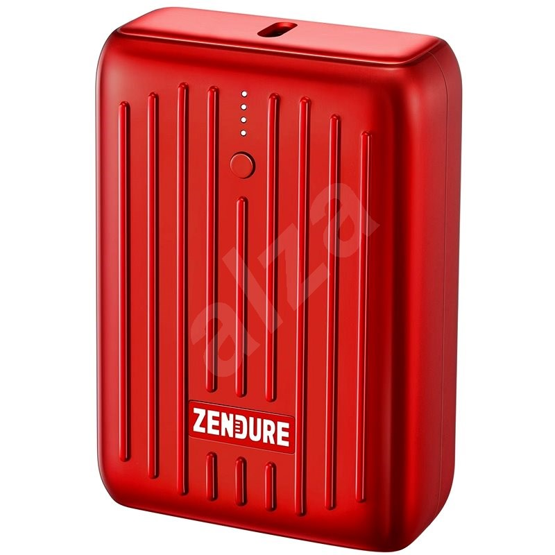 Zendure SuperMini - 10000mAh Credit Card Sized Portable Charger with PD (Red) - Powerbanka