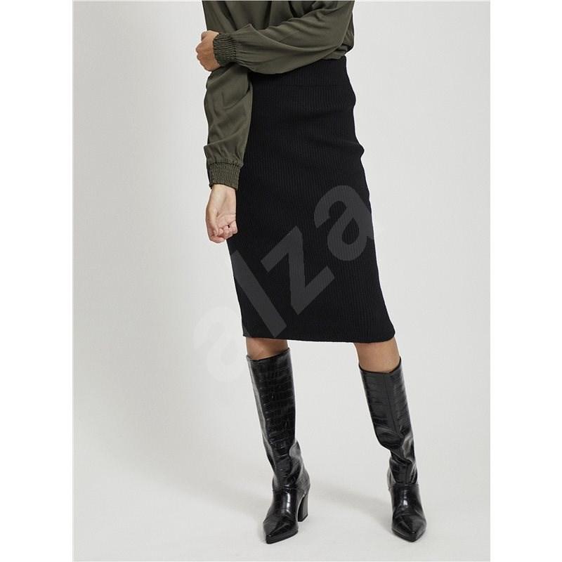 VILA Černá pouzdrová sukně Ril M - Sukně