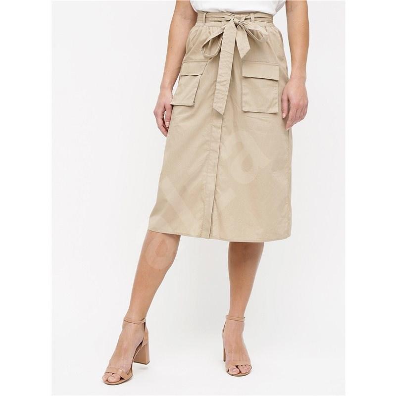 VILA Béžová sukně s kapsami Nyala L - Sukně