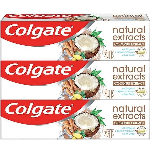 COLGATE Naturals Coconut & Ginger 3× 75 ml - Zubní pasta