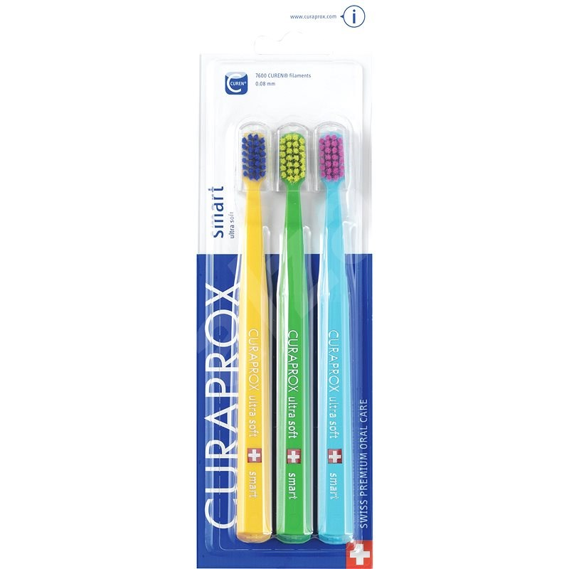 CURAPROX CS 7600 Ultra Soft, Smart 3 ks - Zubní kartáček