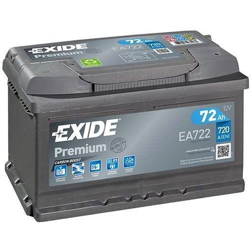 EXIDE Premium 72Ah, 12V, EA722 - Autobaterie