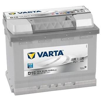 VARTA SILVER Dynamic 63Ah, 12V, D15 - Autobaterie