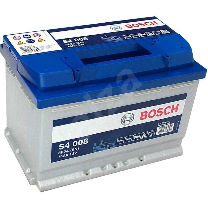 BOSCH S4 008, 74Ah, 12V (0 092 S40 080) - Autobaterie