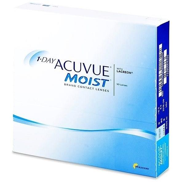 Acuvue Moist 1 Day (90 čoček) dioptrie: -0.50, zakřivení: 8.50 - Kontaktní čočky