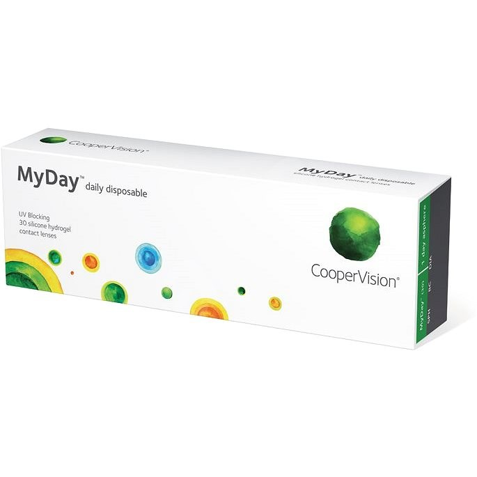 MyDay Daily Disposable (30 čoček) dioptrie: -9.50 zakřivení: 8.4 - Kontaktní čočky