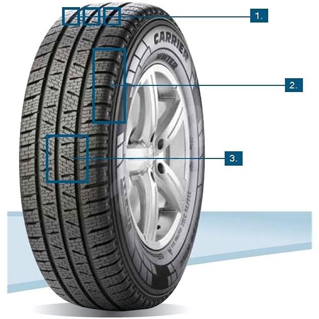 Pirelli CARRIER WINTER 205/75 R16 110 R zimní - Zimní pneu