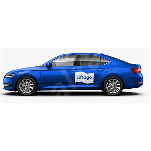 Magnet Liftago bílý malý (500x311 mm) (pouze pro vozidla modré barvy s dveřní ochrannou lištou) - Magnet