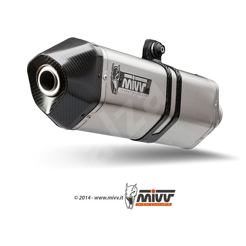 Mivv Speed Edge Stainless Steel / Carbon Cap pro BMW R Nine T (2014 >) - Koncovka výfuku