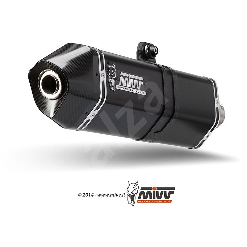 Mivv Speed Edge Black Stainless Steel pro Suzuki DL V-Strom 1000 (2014 >) - Koncovka výfuku