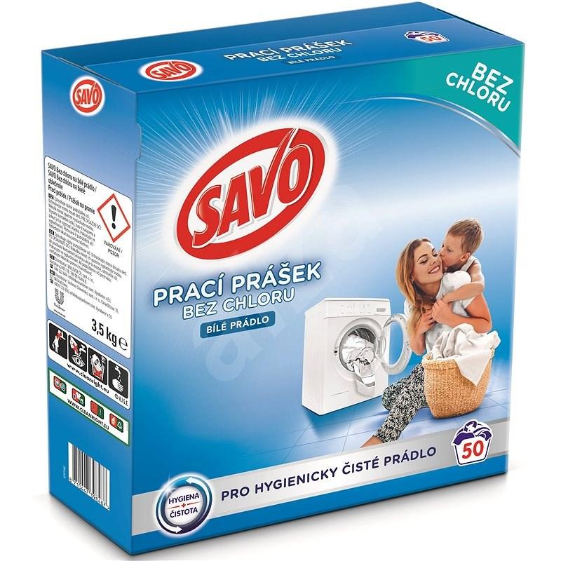 SAVO bílé prádlo 3,5 kg (50 praní) - Prací prášek