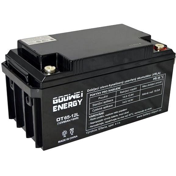 GOOWEI ENERGY OTL65-12, baterie 12V, 65Ah, DEEP CYCLE - Trakční baterie