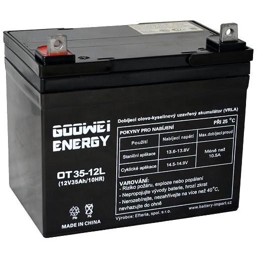 GOOWEI ENERGY OTL35-12, baterie 12V, 35Ah, DEEP CYCLE - Trakční baterie