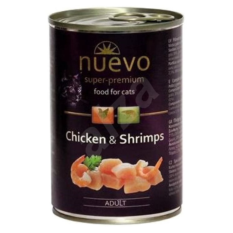 Nuevo cat adult chicken and shrimp can 400g - Shelter Contribution