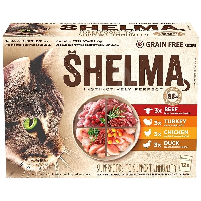 Shelma mobile stewed fillets 4 types of meat 12 × 85 g - Shelter Contribution