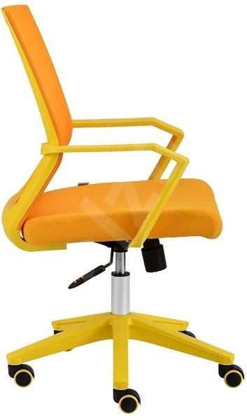 256d63295a45 ALBA Merci žlutá - Kancelářská židle