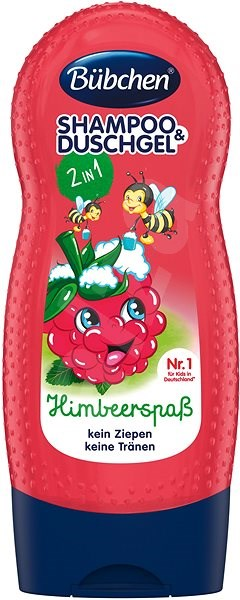 Bübchen Kids RASPBERRY Shampoo and Shower Gel - Children's Shampoo
