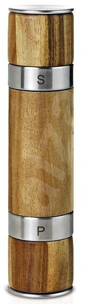 AdHoc Mlýnek oboustranný DUOMILL ocel/akát, 21cm - Mlýnek