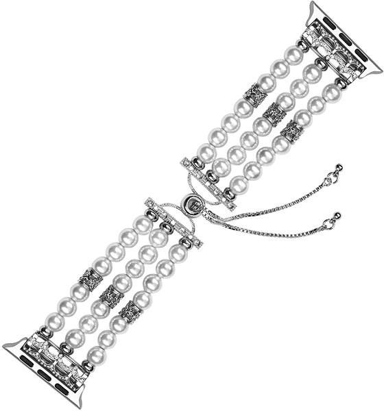 Eternico Apple Watch 42mm / 44mm Pearl Bracelet bílý - Řemínek