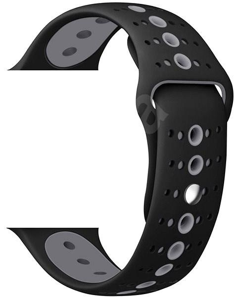 Eternico Apple Watch 42mm / 44mm Silicone Polkadot Band černo šedý - Řemínek