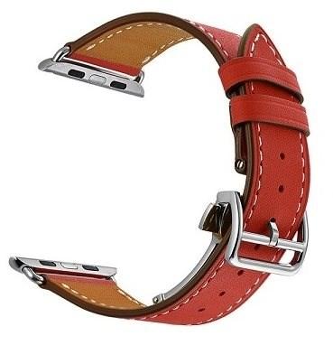 Eternico Apple Watch 38mm / 40mm Leather Strap červený - Řemínek