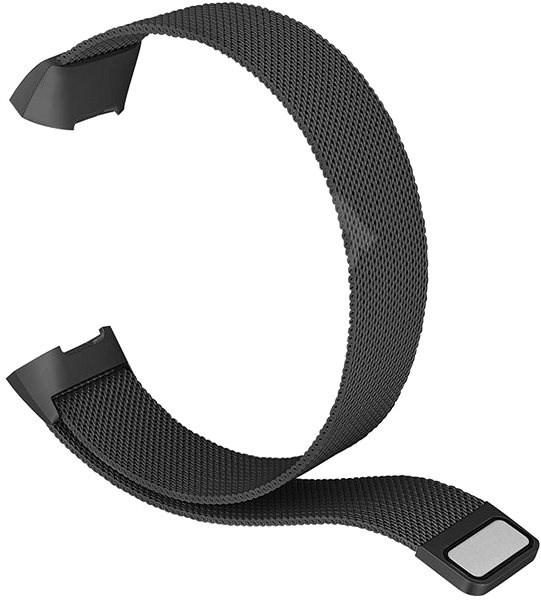 Eternico Fitbit Charge 3 Steel černý (Small) - Řemínek