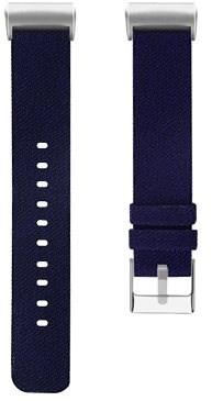 Eternico Fitbit Charge 3 Canvas tmavě modrý (Large) - Řemínek